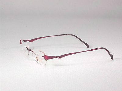 Designer Titanium Frames Glasses Rimless Men Women Gold Red Silver (Rimless Eyewear Frames)