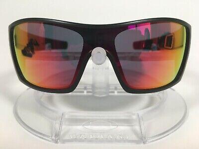 New OAKLEY ~BATWOLF RUBY IRIDIUM~ Sunglasses OO9101-38  MATTE BLACK EXTRA ICONS