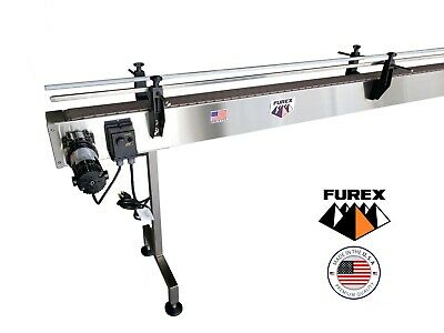 Furex Stainless Steel 10 X 4 Inline Conveyor With Plastic Table Top Belt