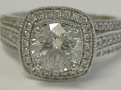 14 k  WHITE GOLD DIAMOND RING ZEGHANI 1 CT  CENTRAL DIAMOND