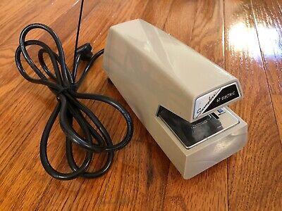 Vintage Swingline 67 Electric Commercial Stapler Beige Color. Tested