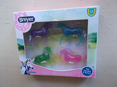 Breyer Stablemates Unicorn Gift Collection Alborozo Magnolia Walking TB WB New