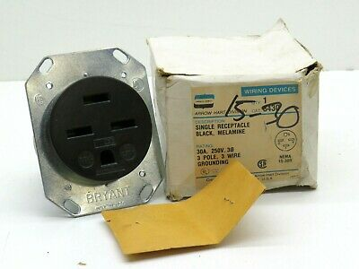 L18-30 Bryant Flanged Receptacle 30A 120//208V 3 Phase Wye