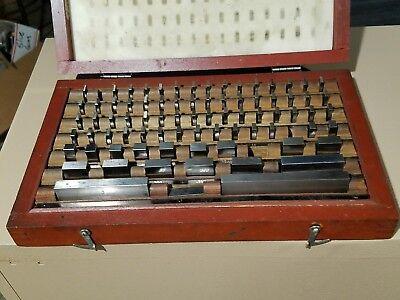 78 Piece Machinist Gage Block Set In Case Cl.b 20c 95-8492 Tool Room Set Up
