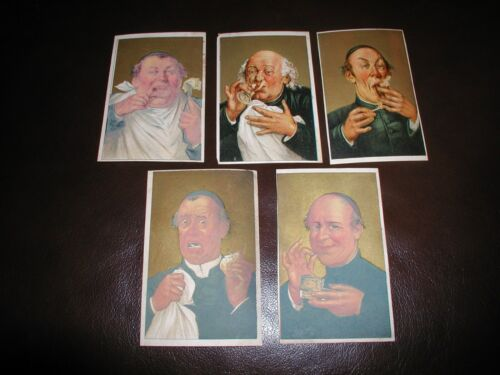5 Great Atlantic Pacific Tea Company CLERGY PRIESTS 5 VICES Trade Card ZUCCHETTO