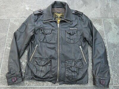 SUPERDRY BROWN LEATHER JACKET SIZE L VERY GOOD CONDITION!!!!!!