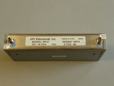 Aeroflex Weinschel Programmable Step Attenuator 18 Ghz 5 Db Step 150t-75 6812