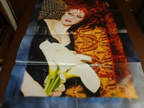 Cyndi Lauper poster - Memphis Blues  - folded full size  promo poster   c2