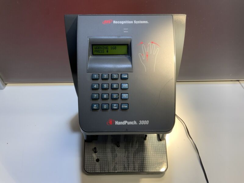 IR RECOGNITION SYSTEMS BIOMETRIC HANDPUNCH HP-3000/ IR/221