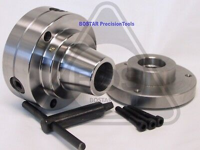 Bostar 5c Collet Lathe Chuck With 1-10 Threaded Backplate Adapter.