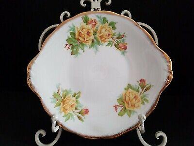 Royal Albert Yellow Tea Rose Vintage Serving Cake Cookie Plate Platter England Yellow Tea Platte