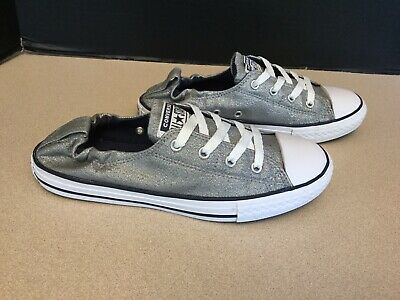 Youth Girls Converse Chuck Taylor All Star Shoreline Metallic Shoes. Size 5Y.