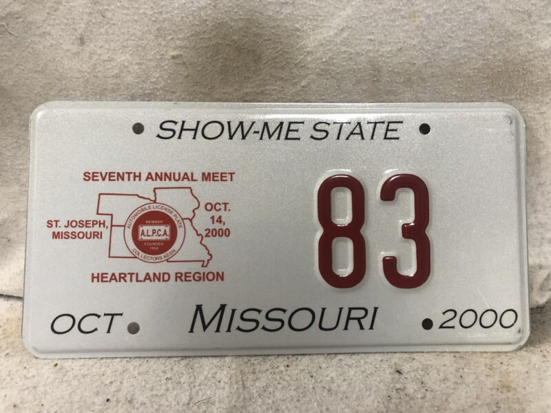 Missouri ALPCA Souvenir License Plate #83