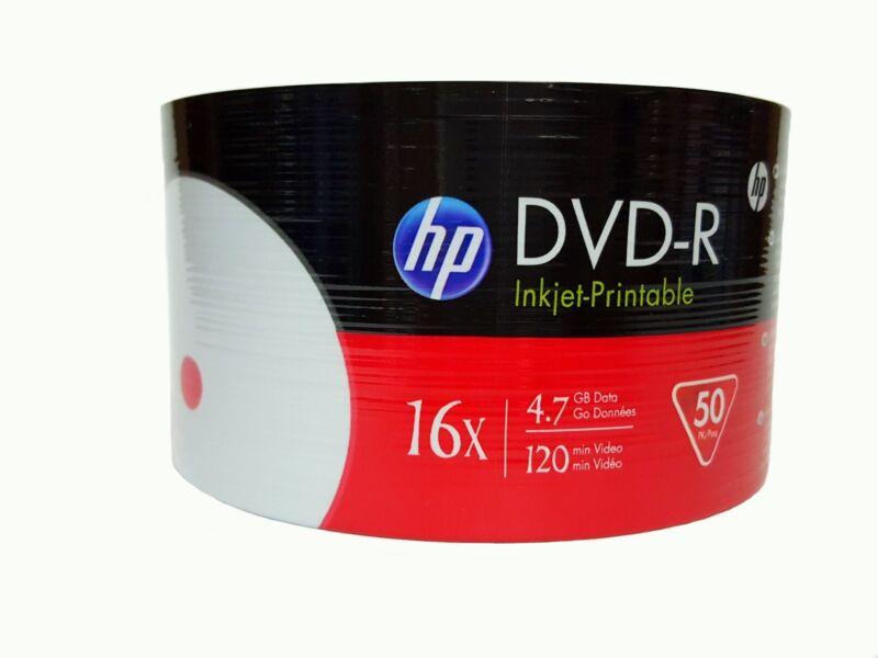 600 HP Blank 16x DVD-R DVD White Inkjet Hub Printable 4.7GB Disc PROMOTION!