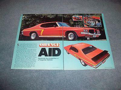 1971 Pontiac Gt 37 Tempest Vintage Street Machine Article  Orange Aid  Le Mans