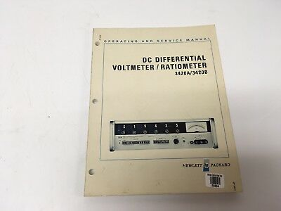 Hp 3420ab Dc Differential Voltmeterratiometer Operatingservice W Schematics