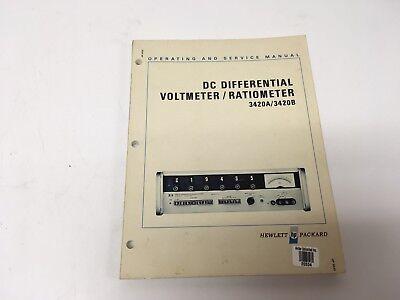 Hp 3420ab Dc Differential Voltmeterratiometer Operatingservice W Schematics