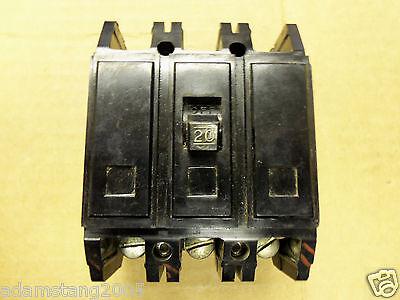 Westinghouse Qc Qc3020 Qc 20 Amp 3 Pole Breaker 240v