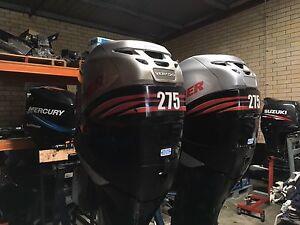 Pair of 275HP Mercury Verado outboards O'Connor Fremantle Area Preview