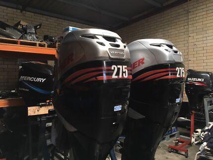 Pair of 275HP Mercury Verado outboards