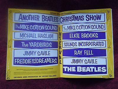The Beatles Authentic 1964-'65 Christmas Show Program Eric Clapton The Yardbirds