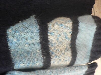 Pull femme mohair tricot   taille  40 / 42 bleu  tbe