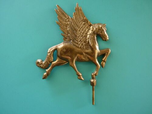Decorative Brass Pegasus Figure - Mythical Winged Horse