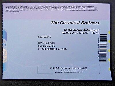 Concert Ticket - CHEMICAL BROTHERS - Lotto Arena - Antwerp - Belgium - 2007