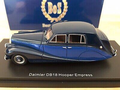 BOS DAIMLER DB18 HOOPER EMPRESS BLUE/DARK BLUE 1/43 RESIN BOS43385 BEST OF SHOW