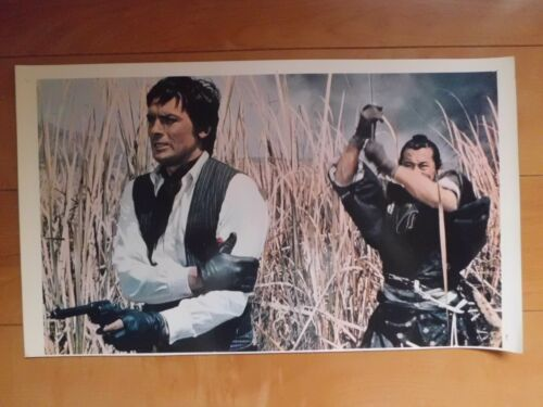 RED SUN Alain Delon Toshiro Mifune Lobby card movie japan 37x22cm 1971 #2