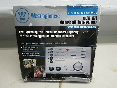 New Westinghouse WHI-5S  Whole-House Wireless Doorbell and Intercom Add-On ()
