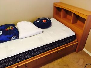 Child's bedroom furniture and boy's bedding