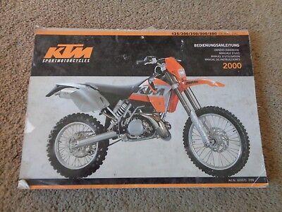 KTM Owners Handbook 2000  125/200/250,300/380 SZ,MXC,EXC