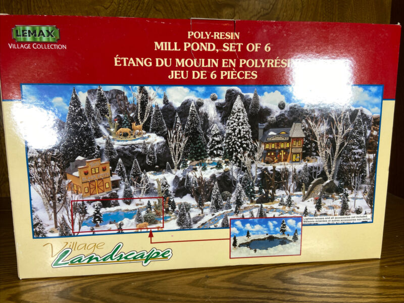Lemax Village Collection mill pond set of 6 #94387 1999