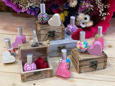Detalles para Boda Comuniones perfumador y jabón en Baúl de madera 10...
