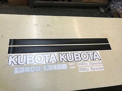 Kubota L3400 Tractor Decals