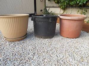 PLANTER POTS VERY LARGE ROUND PLASTIC 3 Lockleys West Torrens Area Preview