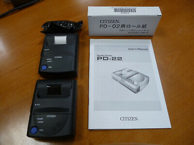 Citizen Thermal Printer Pd-22 2 Printers One New No Box Manual Extra Paper