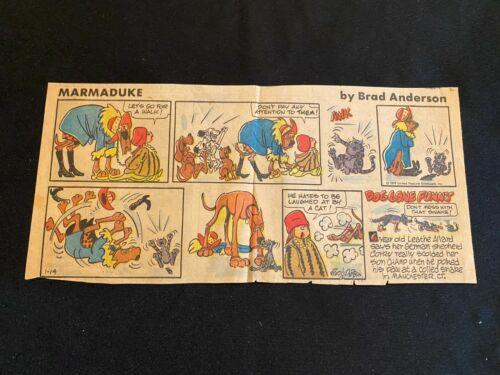#04 MARMADUKE by Brad Anderson Sunday Third Page Comic Strip  January 14, 1979
