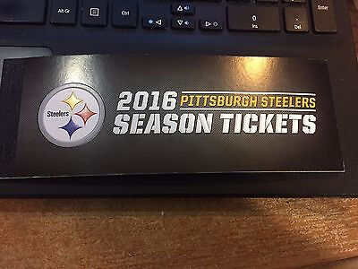 2016 PITTSBURGH STEELERS FULL FOOTBALL SEASON TICKET BOOK STUB ALL GAME W/COVER