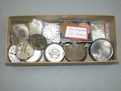 Ingersoll ladies' & men's pocket watch parts: movements, dials, etc. – 6(OO)