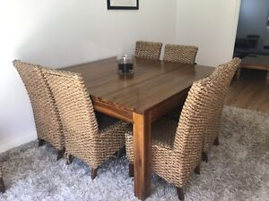Large square dining table