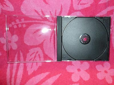 Standard Cd Jewel Case With Removable Black Tray 4-pack New
