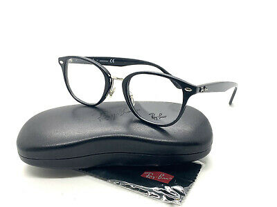Ray-Ban RB 5355 2000 Clubmaster Eyeglasses Optical Frames Glasses Black ~ 50mm (Lense Frames Opticals)