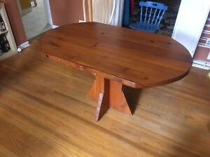 Dining room table solid wood
