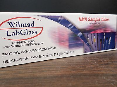 Wilmad Lab Glass 5mm Od 8 Length 100mhz Economy Nmr Sample Tubes 5box