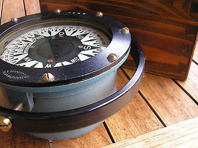seltener alter Schiffskompass W. Hartmann Ludolph Nr. 3673 Kompass mit Holzkiste