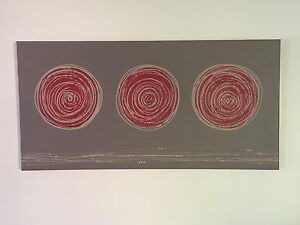 Original art on canvas (red, coffee and taupe) Eight Mile Plains Brisbane South West Preview