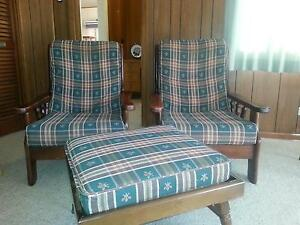 Armchairs and stool Eastwood Ryde Area Preview