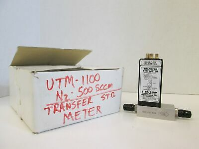 Unit Utm-1100 Mass Flow Calibration Transfer Std. Meter N2 500 Sccm Used